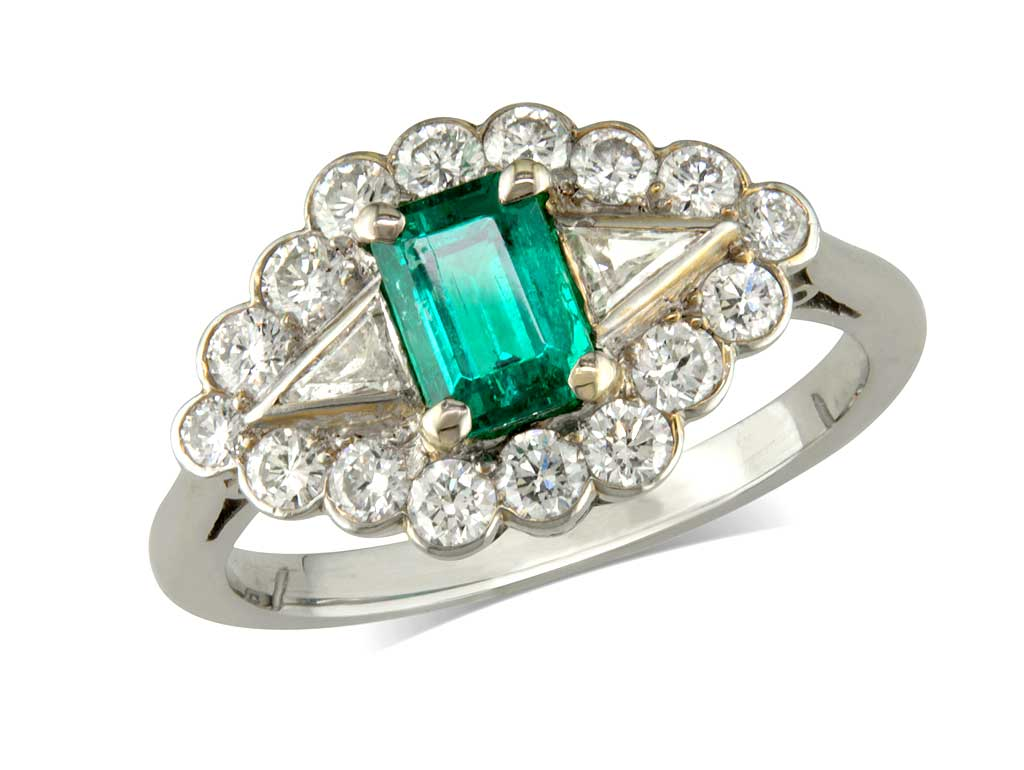 pre owned emerald and ring c1940