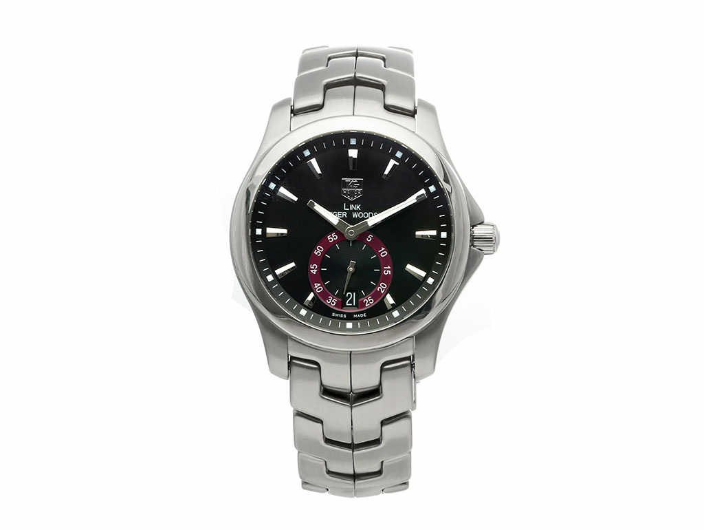 Pre Owned Tag Heuer Link Tiger Woods Limited Edition Wjf211d