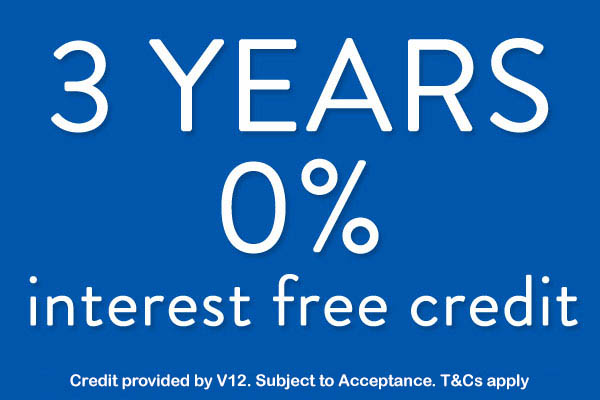3 years interest free credit on our jewellery